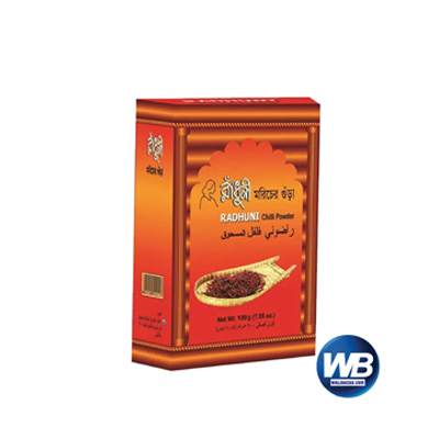 Radhuni Chili (Morich) Powder 100 gm