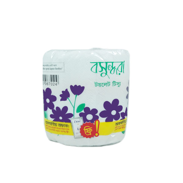 Bashundhara Toilet Tissue (white) each