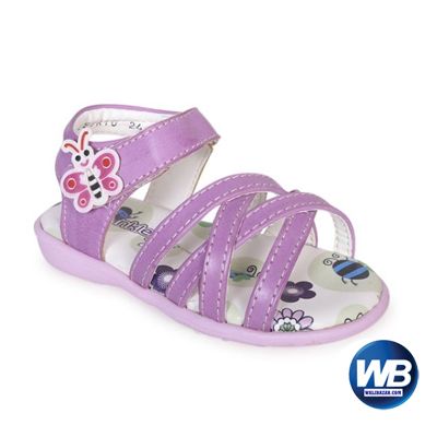 Apex Twinkler Pink Leather Sandal For Girls