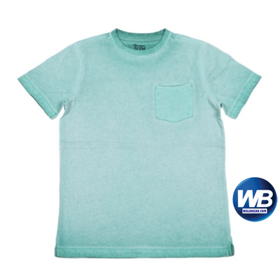 Haat Sky Blue Cotton Casual T-shirt For Boys 7-8 years