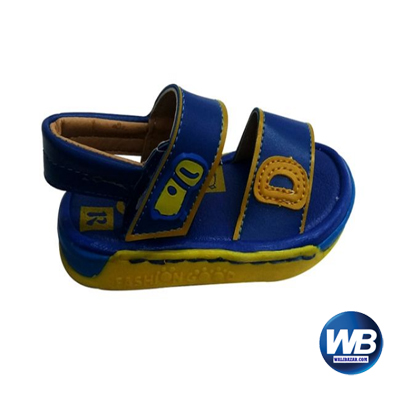 Kids and Mom Bazar Faux Leather Casual Sandal for Boys - Blue