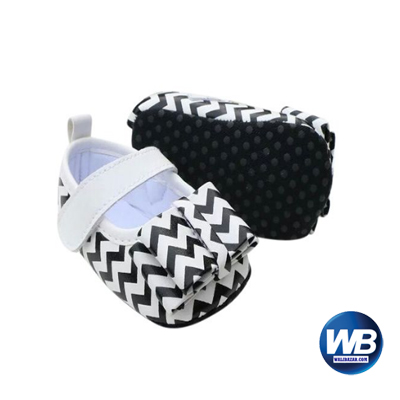 Zarossa Black And White Cotton Shoe For Baby -