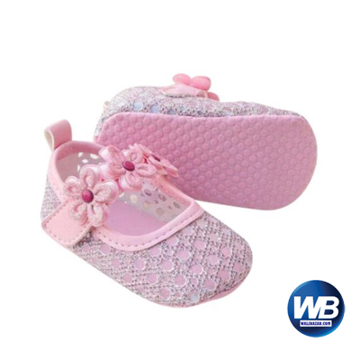 Zarossa Pink PU Leather Shoe For Baby