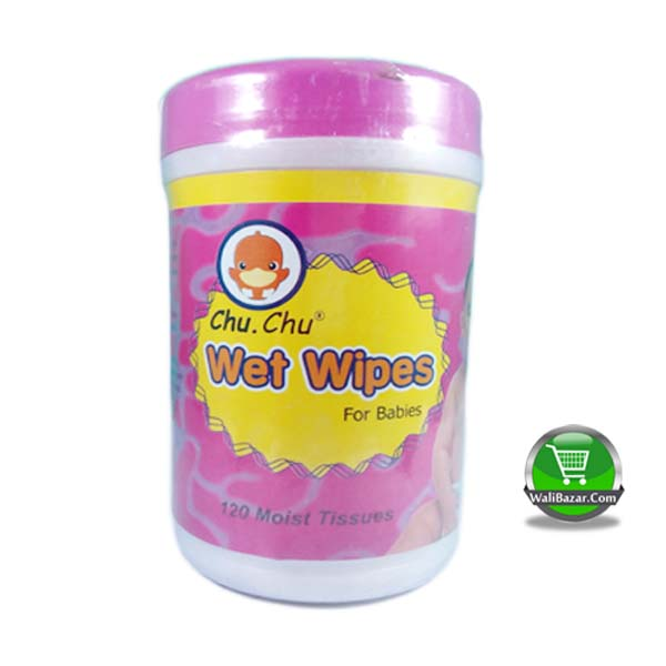Chu. Chu wet wipes for babies 120 moist tissues