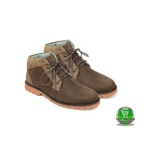 Leather Casual Boot For Men (Sky Sea Brown)