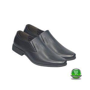 Leather Shoe Black (Sky Sea)