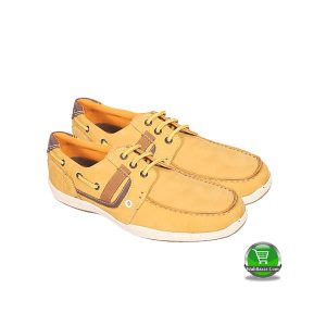 Maverick Beige Leather Boat Shoe (Apex)