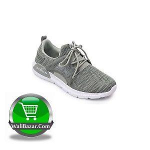Men's PU Lace Up Shoe ( Light Gray) sale by WaliBazar