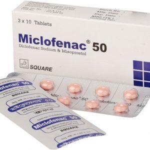 Miclofenac®50 mg 10 pis