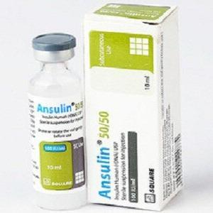 Ansulin 50/50 100 i.u/ml 3ml