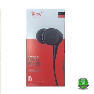 FD1 Fun Audio D5 Stereo Black Earphone