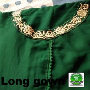 Green Long gown for a girl