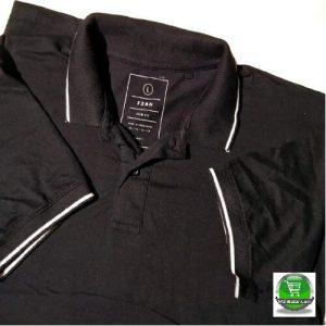 Export Quality Polo Black Cotton T Shirt