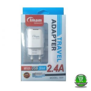 Travel Adapter 2.4A with USB Slot