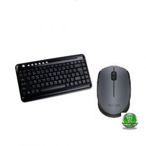 A4 Tech Wireless Keyboard & Padless Mouse