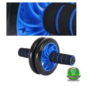 Exercise Roller Wheel, Black and Blue