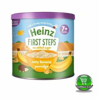 First steps oaty banana porridge dinner 7+ Months Baby