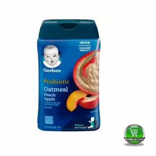 Garber Probiotic Oatmeal Peach Apple cereal For sitter Baby